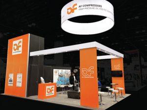 Custom Tradeshow Exhibit - AF Compressors